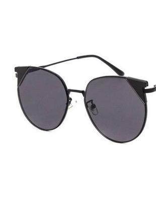 Солнечные очки sumwin c1 бабочка черные в оправе металл