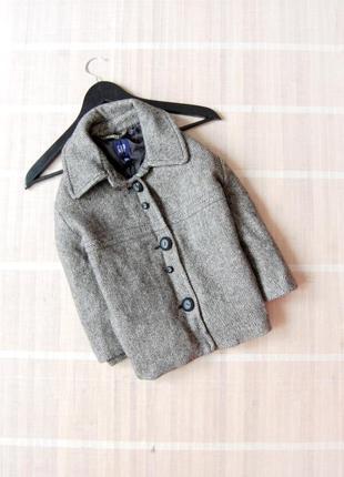 Твидовое укорочённое пальто gap оверсайз