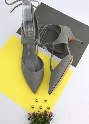 Женские туфли лодочки на завязке next