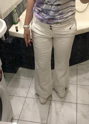 Льняные брюки клёш, стрелки, карманы , mexx , оригинал , лён