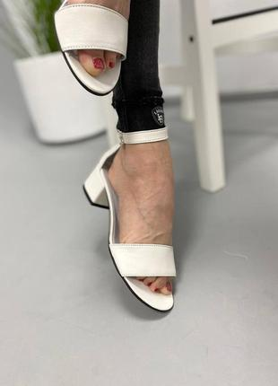 Босоножки боссоножки сандалии на низком каблуке натуральная кожа туфли 7647 фото