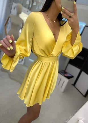 Шикарное нарядное платье шёлк