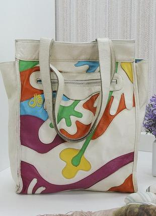 Кожаная сумка шоппер diesel, италия, натуральная кожа