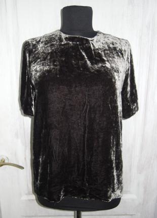 Бархатная футболка 20% шелк