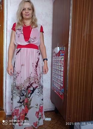 Шифоновое платье, сарафан, лето