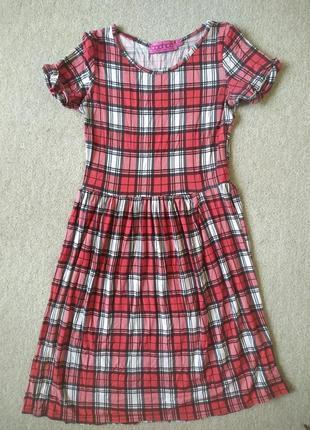 Клетчатое хлопковое платье в идеальном состоянии