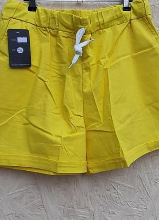 Шорти желтые льон жовті
