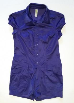 Фиолетовый комбинезон ромпер (шортами)  denim co