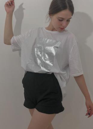 Біла футболка mickey mouse zara&disne