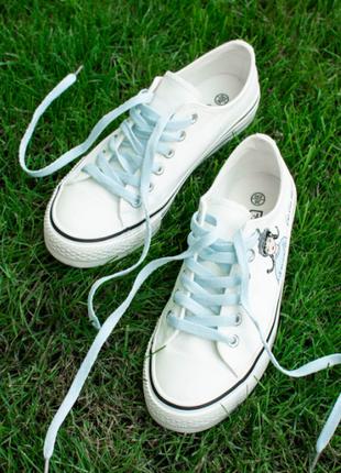 Женские белые кеды/размеры: 36-40