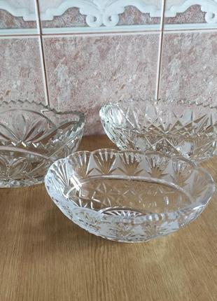 Хрустальная ваза конфетница салатник