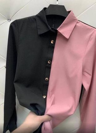 Новая двухцветная рубашка