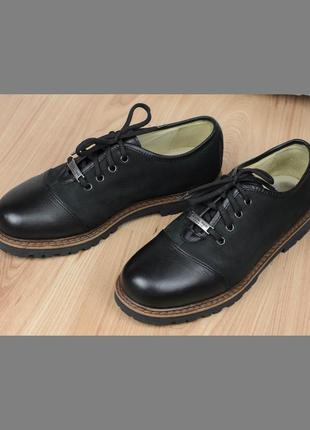 Кожаные полуботинки туфли michel jordi швейцария 41,5-42р. 27 см.