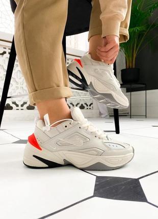 Женские кроссовки nike m2k tekno / жіночі кросівки найк білі