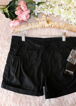 Черные хлопковые шорты р.164 takko fashion германия