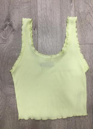 Боди в рубчик лаймового цвета -зеленый женский