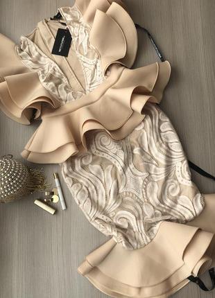 Плаття сукня міді бед розкішна літо вишукана екслюзив