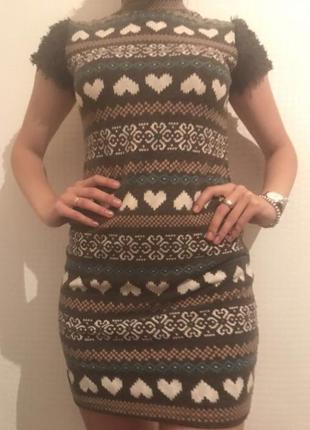 Зимнее платье oodji