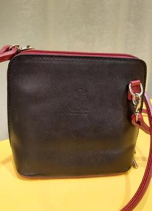 Кожаная сумка сумочка кросс боди vera pelle