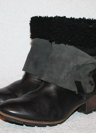 82bec0c924e3 Кожаные ботинки трансформеры snipe на овчине 40 размер 26 см стелька ...