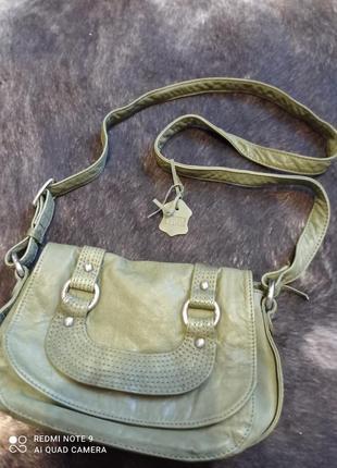 Красивая кожаная сумка через плечо echtes leder