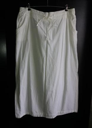 Льняная юбка с разрезом бренда label be p.20