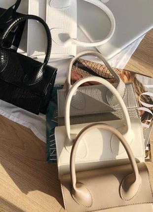 Маленькая сумка, сумка багет, кросс боди.