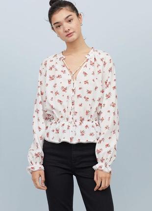 Новая легкая натуральная блуза h&m. размер 46