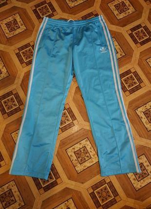 Штаны, брюки спортивные прямые голубые adidas