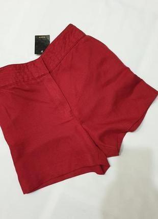 Mango льняные шорты с карманами натуральный лен 40 l пот 39 см