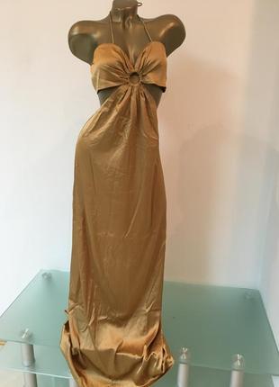Платье шелковое платье макси tjd asos сарафан