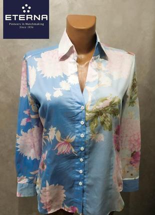 396. хлопковая рубашка  производителя элитных рубашек из германии eterna р.м