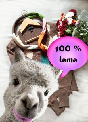 Теплейший джемпер в аргайл-ромб на зиму натуральная шерсть + шарф из шерсти в подарок