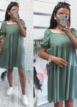 Платье летнее женское свободное оверсайз легкое розовое короткое