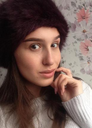 Очет стильная и тёплая повязка на голову