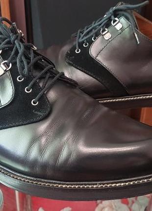 Оригинальные кожаные туфли премиум-класса дизайнера cesare paciotti! италия! 44р.