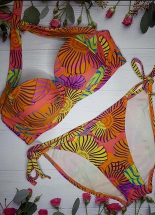 Купальник купальный костюм бандо яркий