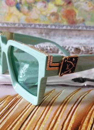 Эксклюзивные брендовые мятные солнцезащитные очки унисекс millionaire 2021 +фирменный мешочек