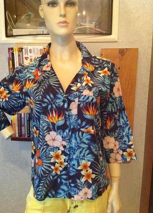 Натуральная рубашка - блуза бренда asos, р. 48-50