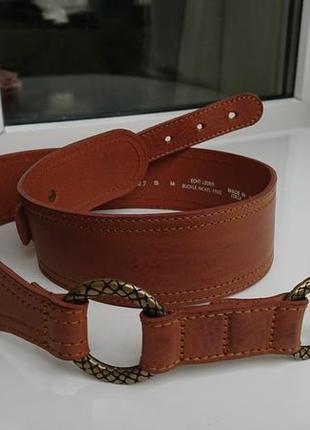 Эффектный акцентный итальянский кожаный ремень бренда intenso by beluno s - m