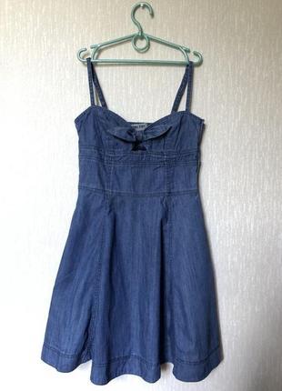 Бомбезное джинсовое платье фирмы bershka