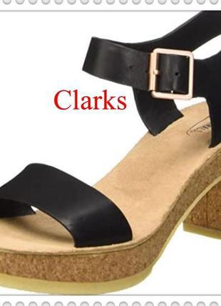 Clarks оригинал женские кожаные босоножки р.41