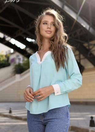 Блузка батал женская летняя тонкая легкая свободная белая