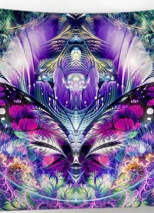 Картина на ткани гобелен настенный бабочка
