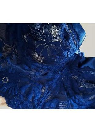 Корсет-бюстгальтер глубокого синего цвета