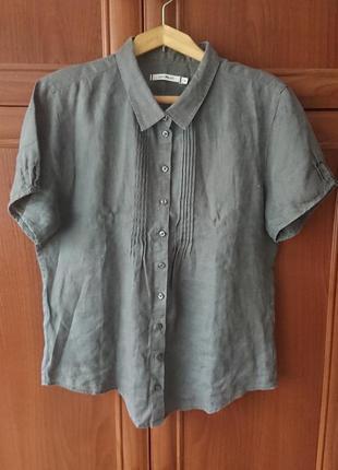 Красивая льняная рубашка paul kehl/летняя блуза #100%лен#