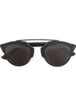 Очки солнцезащитные dior so real чёрные
