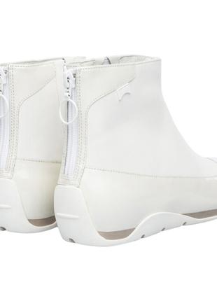 Шикарные кожаные ботинки/полусапожки/ботильоны camper, р. 37 (24 см) белые, лак