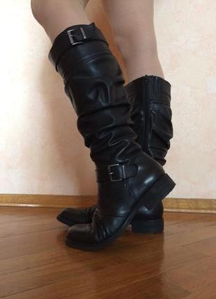 Черные кожаные демисезонные сапоги chester оригинал 37 размер