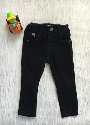 Next вельветовые зауженные штаны - брюки на мальчика 12-18 мес ,1-1,5 года